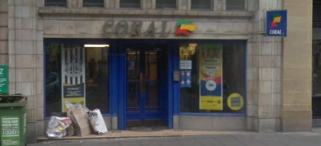 Coral Betting Shop Newcastle Hood Street