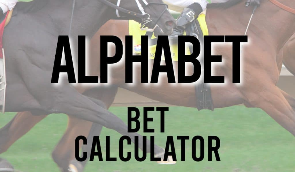 Alphabet Bet Calculator