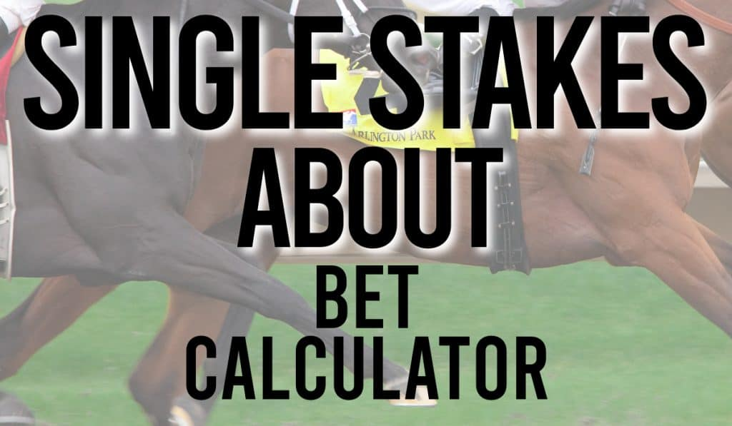 Single Stakes About Bet Calculator